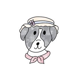 My dog Rosie as Miss Marple