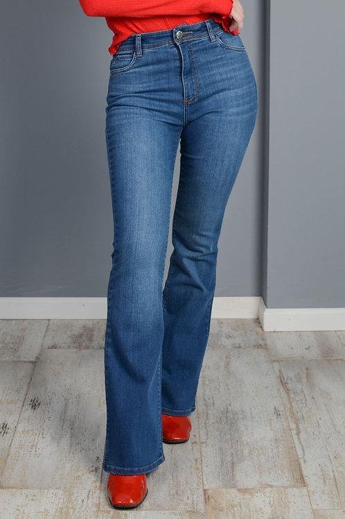 Jeans Flare Niza Mid Blue