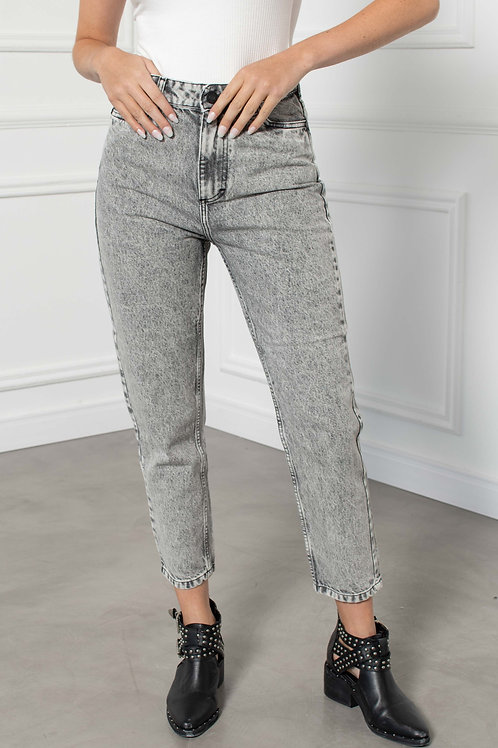 Jeans Mom Fit Grey