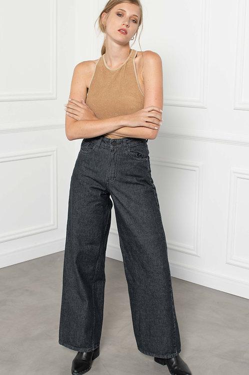Jeans Wide Leg Black