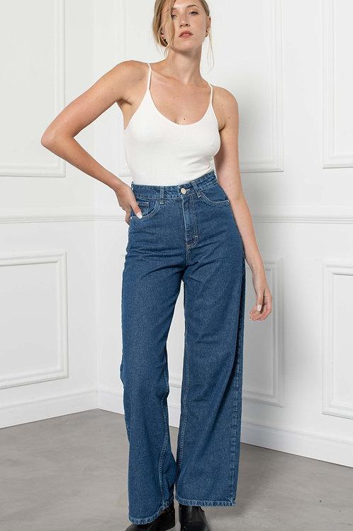 Jeans Wide Leg Blue