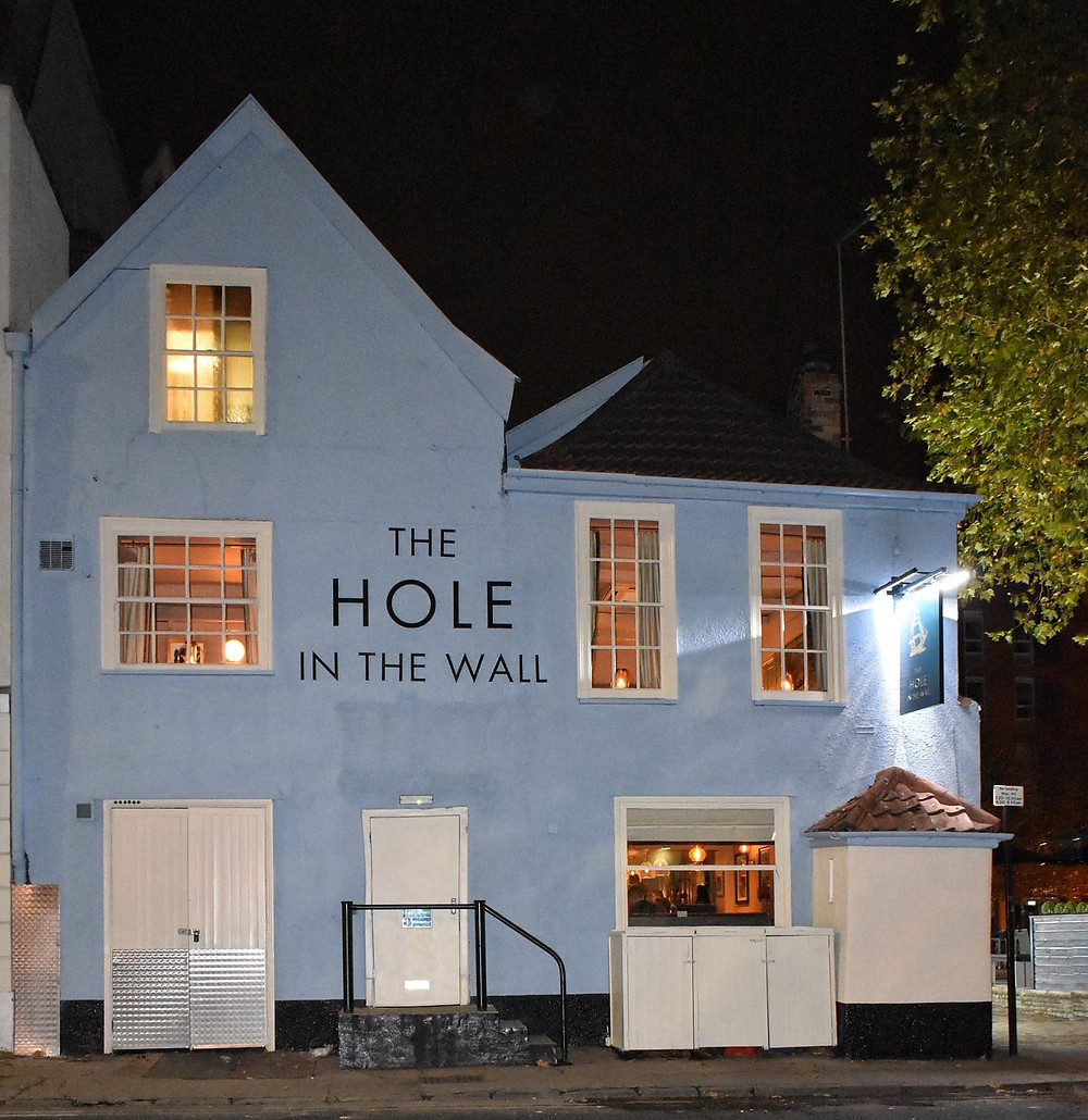 Exterior of The Hole in the Wall pub