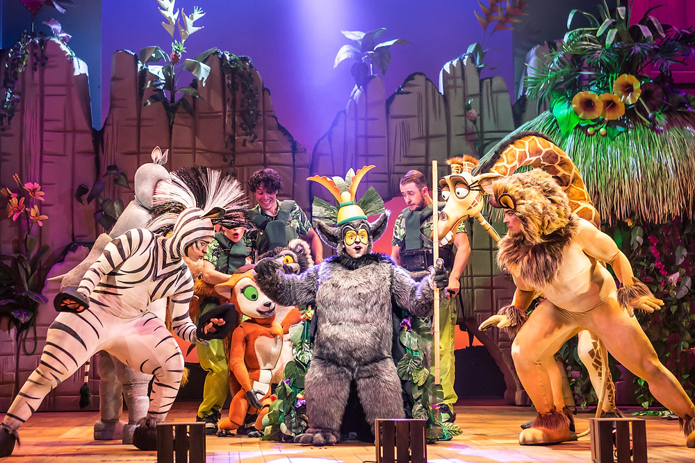 King Julien and the Madagascar cast