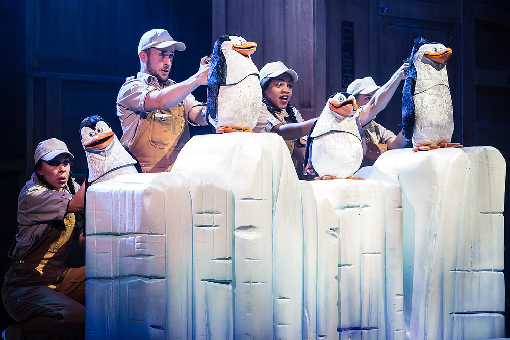 Penguin puppets in Madagascar The Musical