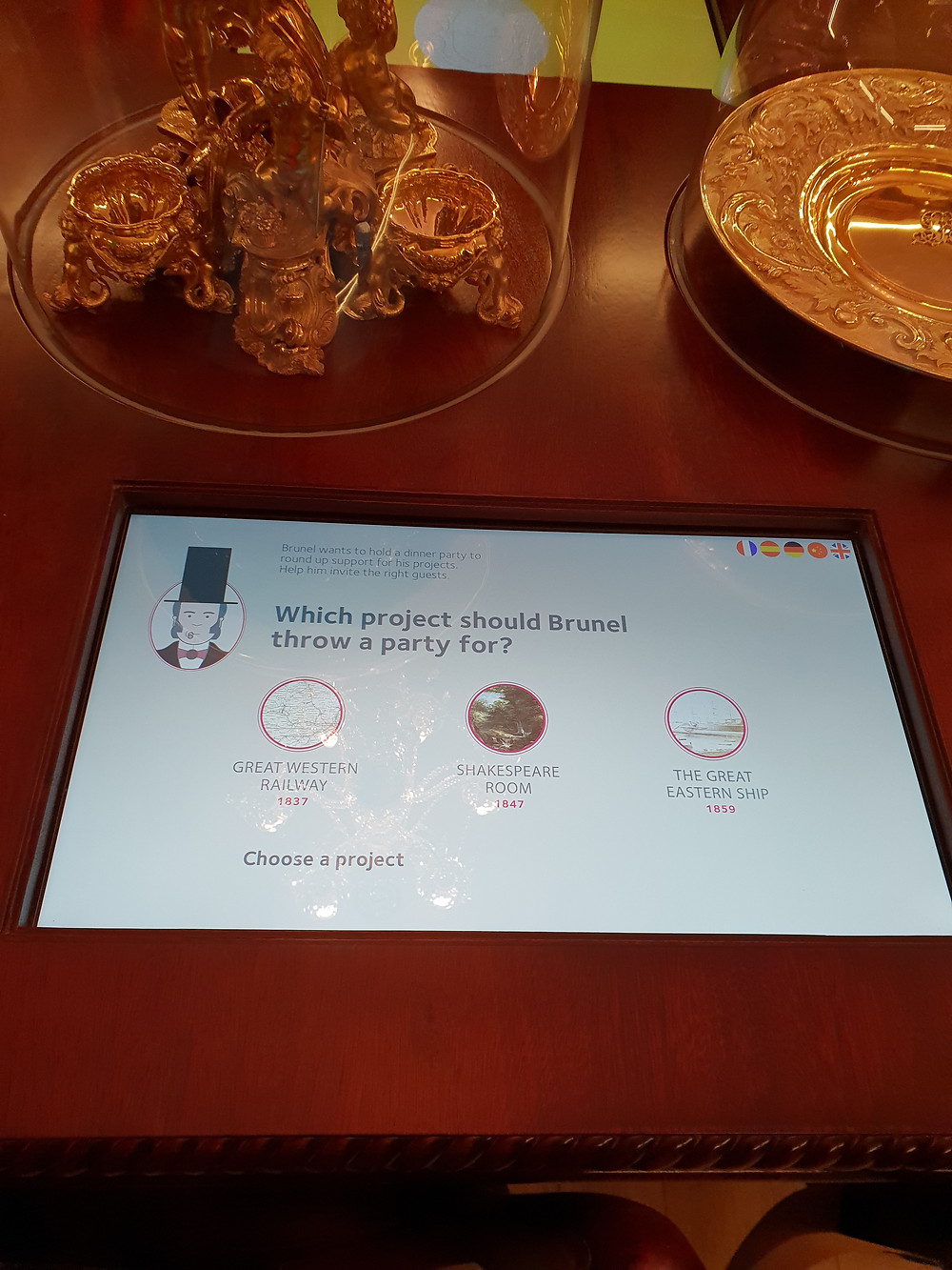 Museum touch screen