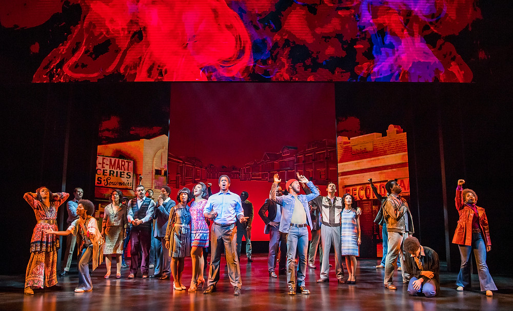 Motown the Musical cast on stage