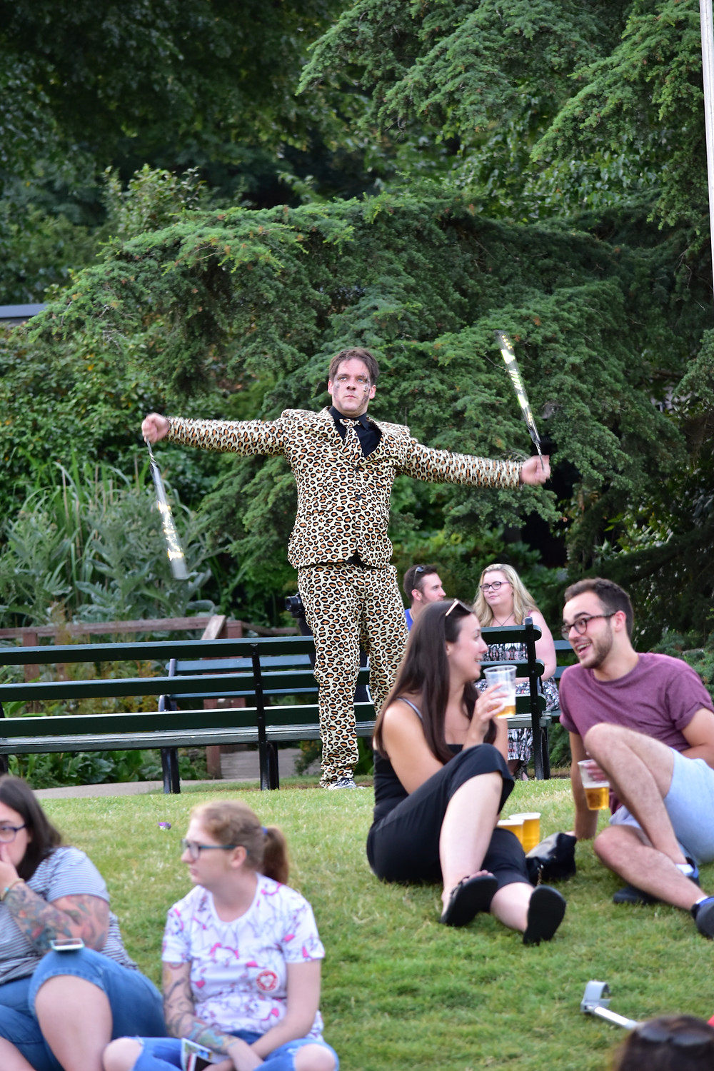 Juggler on the lawn