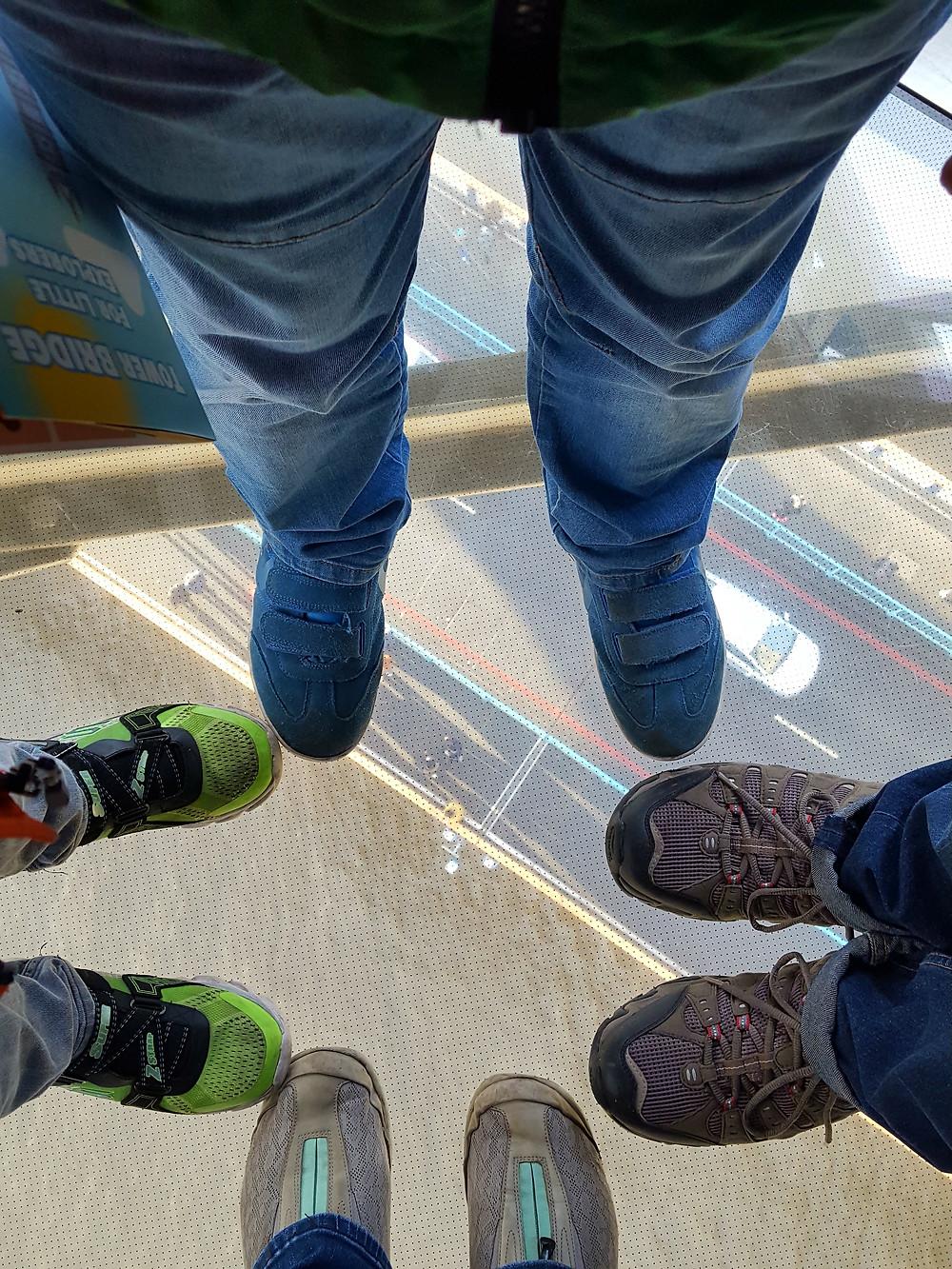 Feet on the Glass Floor