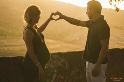 Embarazo Exterior Pareja Love