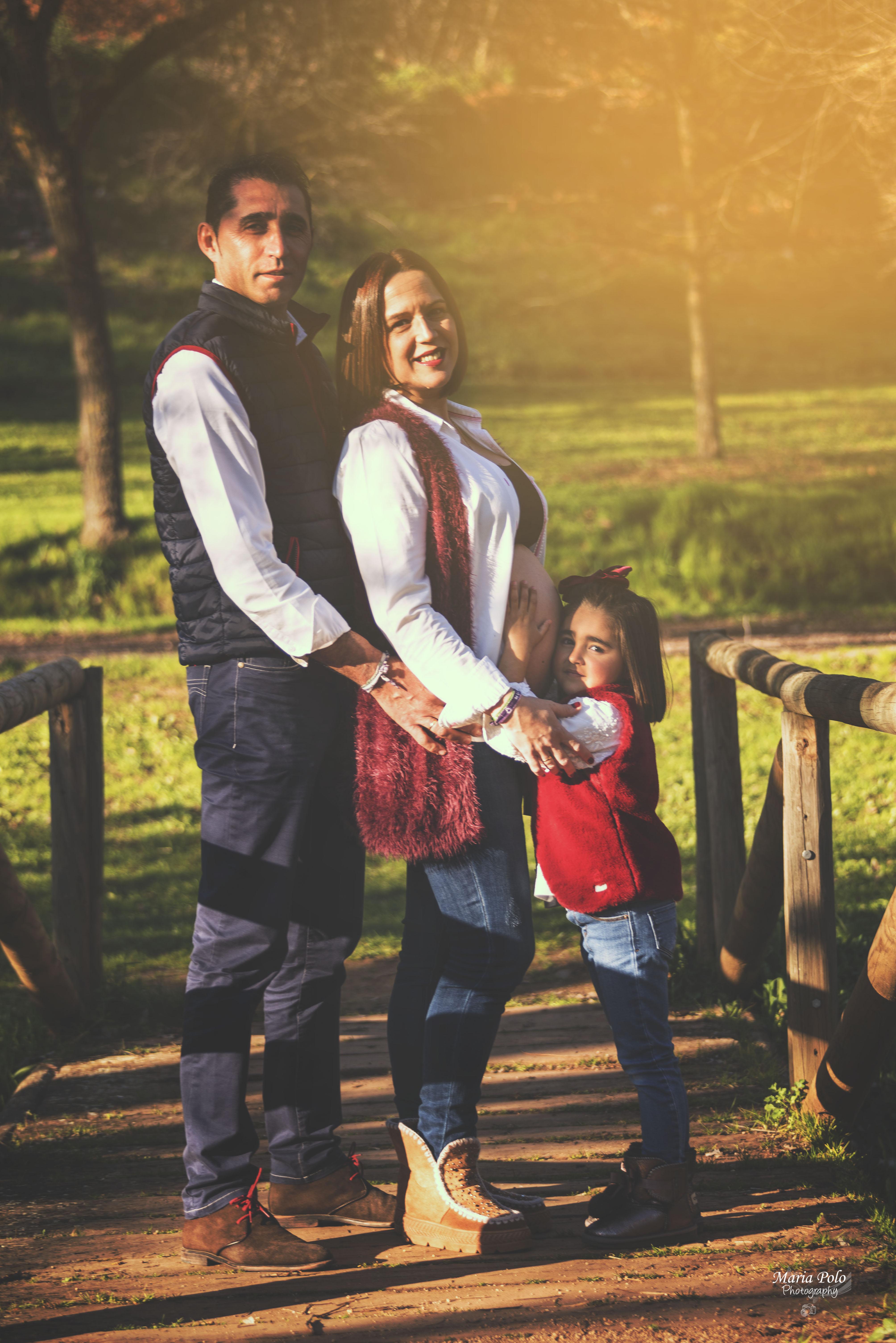 Embarazo exterior Familia