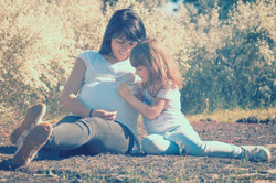 Embarazo Exterior madre e hija