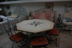 Tavolo piano in resina esagonale