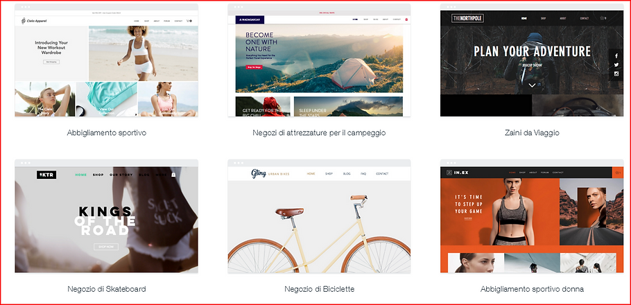 Esempio e-commerce 2