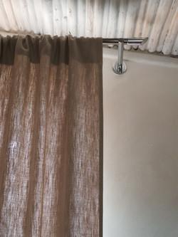Tenda tessuto puro lino