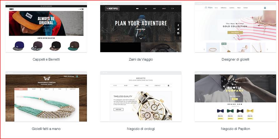 Esempio Template e-commerce 1