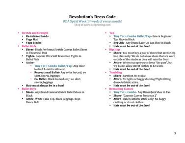 RDA Dress Code 2021-2022