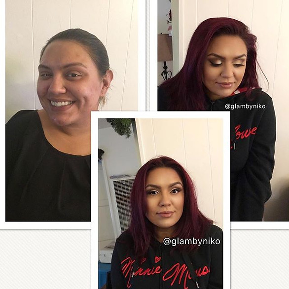 Some Natural glam on this beauty _Book with Mysterious Beauty today and choose Makeup by Niko _#makeupartist #bayareahairstylist #certifiedm