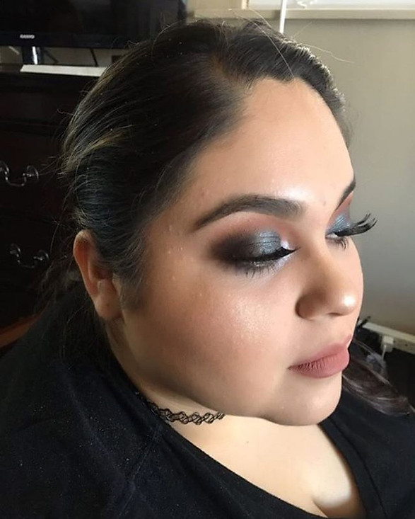 Makeup by our assitant Aiyanna