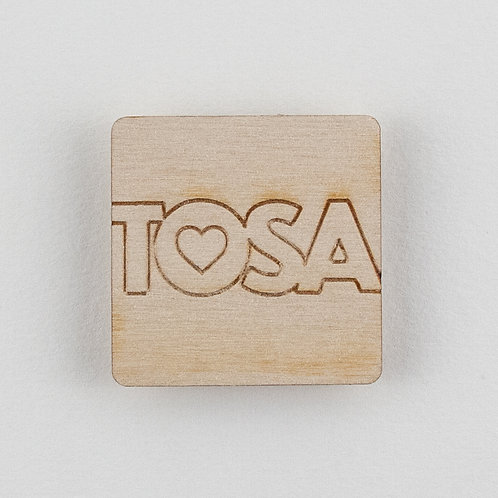 Square TOSA Wood Magnet