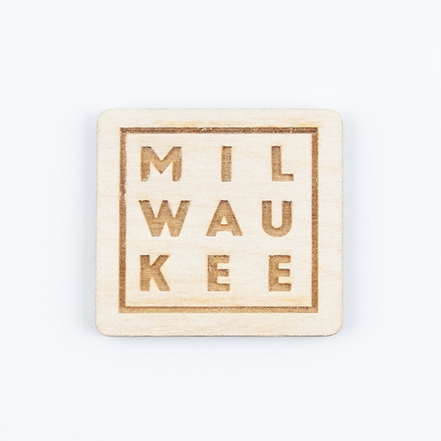 MILWAUKEE Wood Magnet by The Middle Shore