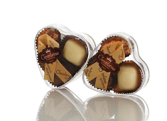 Chocolatina Praline 3 Piece Heart Gift Box