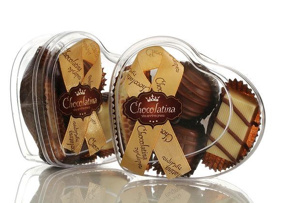 Chocolatina Praline 4 Piece Heart Gift Box
