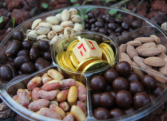 Sweet and Salty Chocolate and Nut Chanukah Platter