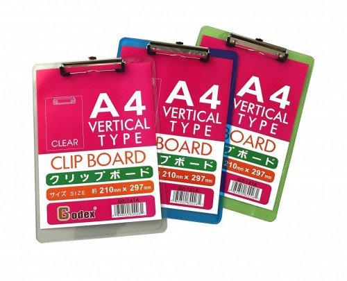 Plastic clip board 透明彩色單板夾 (GX-141A)