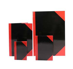 Hard cover book 紅船牌紅黑硬皮簿 (150頁)