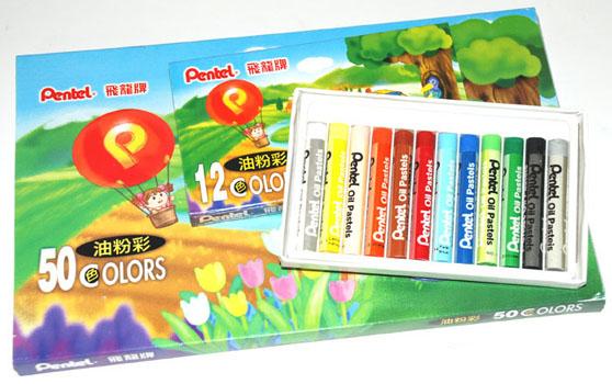 PENTEL oil pastels 油粉彩