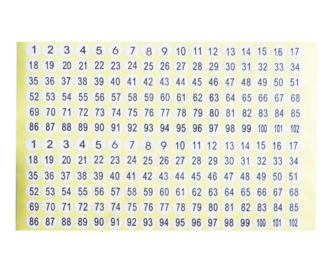 Number Label 圓型號碼標籤貼
