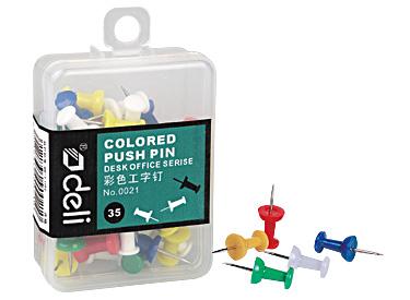 Deli Color push pin  彩色圖釘