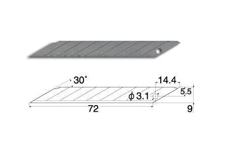 NT Spare Blade 雕刻刀刀片 (D100)