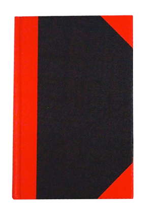 Hard cover book 紅船牌紅黑硬皮簿 (100頁)