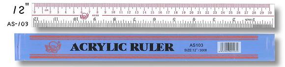 Plastic Ruler 膠間尺