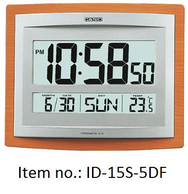 Casio Wall Clocks 掛牆電子鐘 (ID-15S-5DF)