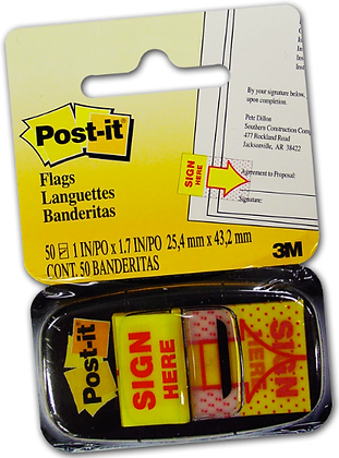 Post-it® Sign Here Flags 680-9