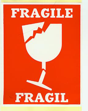 易碎Fragile標簽貼紙