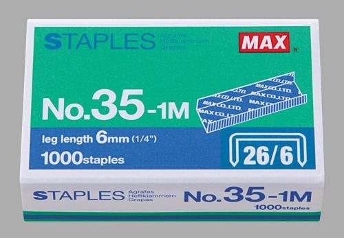 MAX 35-1M STAPLES 釘書針