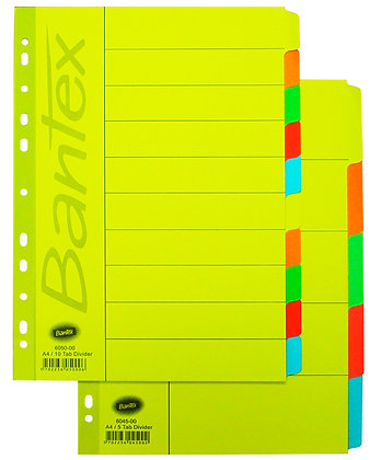 Bantex A4 paper index 紙質分類紙