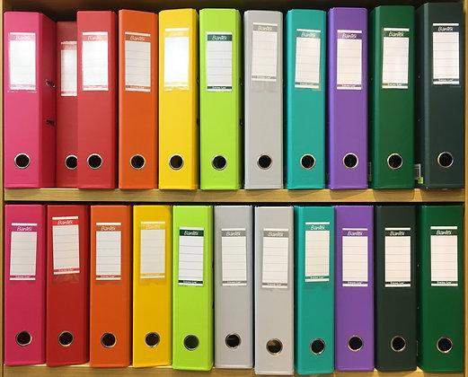 """Bantex PVC box file 2""""/3""""  顏色包膠硬皮快勞"""