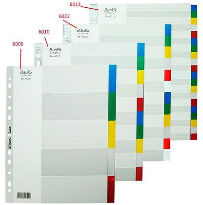Bantex A4 PVC colour index 膠質顏色分類紙
