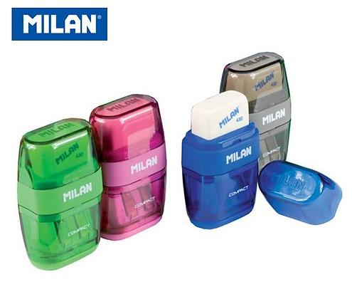 Milan 鉛筆刨 + 擦膠(方形)