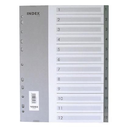 YOBO A4 (1-12) PVC index 數字分類紙
