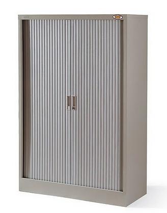 HF捲門鋼櫃 四塊灰色活動層板