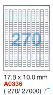 Aneos Computer Printer White Label 電腦打印標籤(白色) 1