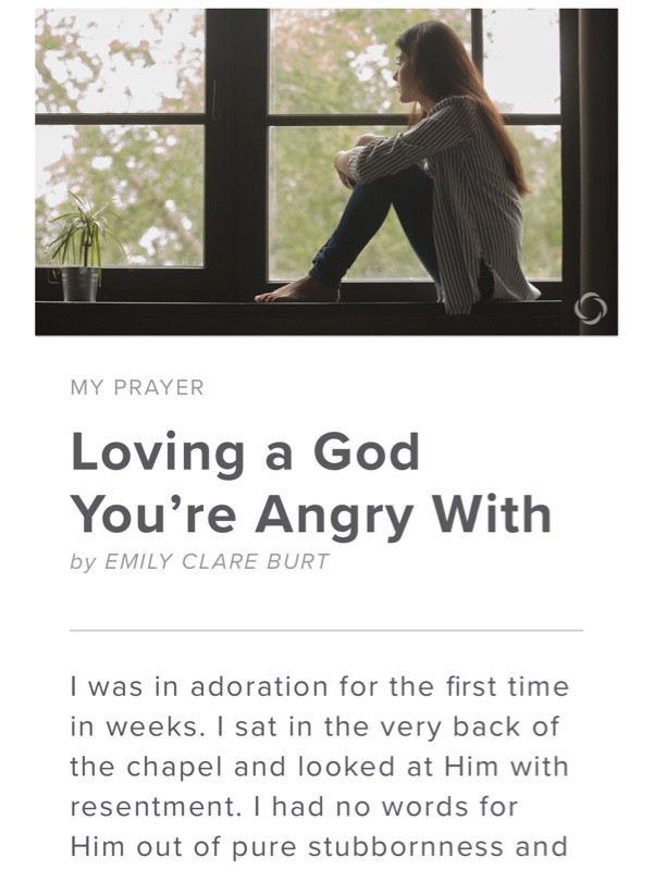 Loving A God You're Angry With