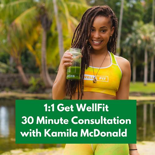 GET WELLFIT 1:1 CONSULTATION WITH KAMILA MCDONALD