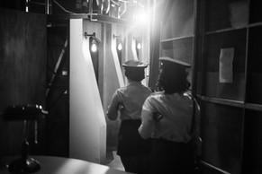 Backstage of 'Urinetown'