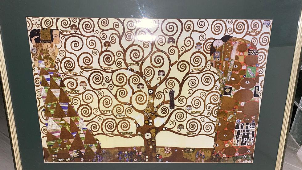 """0001-""""The Kiss"""" by Gustav Klimt (Framed & Matted)"""